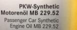 Лист одобрения 229.52 масла Mercedes