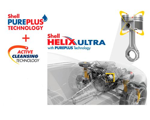 Масло Shell Helix Ultra по технологии PurePluse