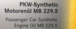Лист одобрения 229.5 масла Mercedes