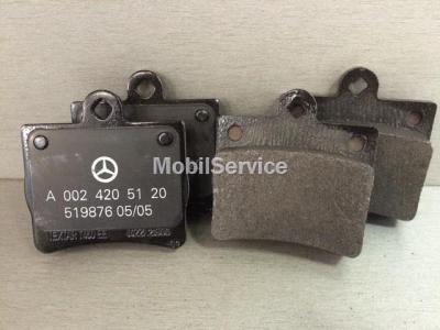 Колодки тормозные дисковые задние A0024205120