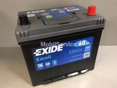 АКБ EXIDE Excell 12V 60Ah 390A 230x172x220 -+
