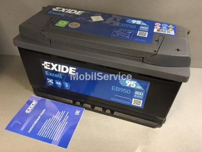 Аккумулятор EXIDE Excell EB950 12V 95Ah 800A 353x175x190 /-+/ АКБ