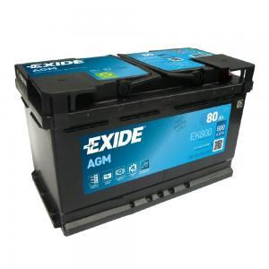 Аккумулятор EXIDE MICRO-HYBRID EK800 AGM 12V 80Ah 800A 315x175x190