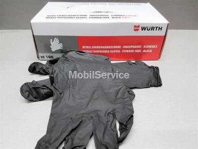 Перчатки нитриловые WURTH чёрные 100шт L 08994703999 0899404030