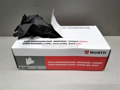 Перчатки нитриловые WURTH чёрные 100шт L 08994703999
