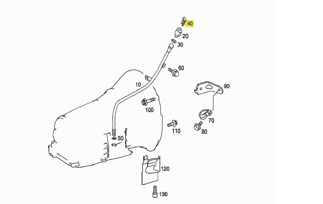 Пломба защитная маслозаливной трубки АКПП A1409910055