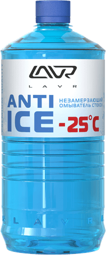 Незамерзающий очиститель стекол -25°C 1л LAVR Anti Ice 1л LN1310