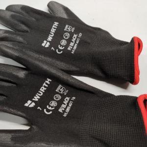 Черные перчатки для сборки WURTH