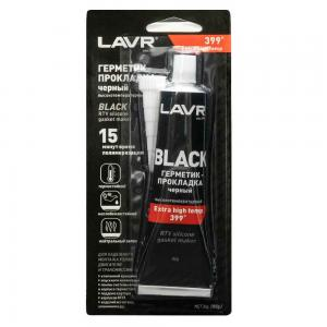 Герметик-прокладка черный высокотемпературный силиконовый 85 г LAVR Ln1738