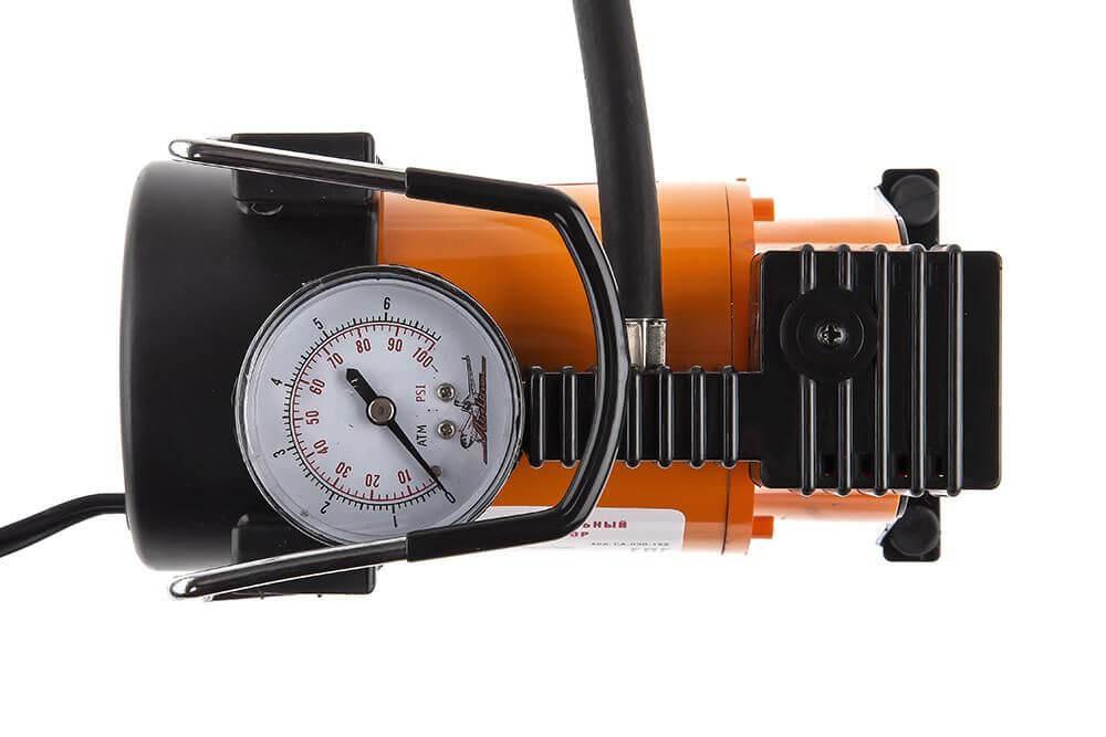 компрессор для накачки шин вид сверху