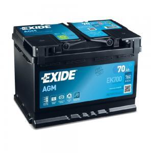 Аккумулятор AGM EXIDE EK700 70AH 760A 278x175x190