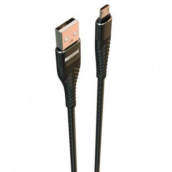 Кабель micro USB 2A, черный 2м WIIIX CB720-UMU-2A-20B