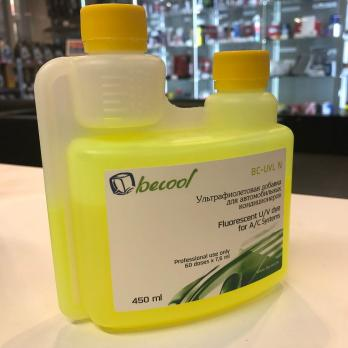 Флуорисцентный краситель-добавка для определения утечек фреона BEECOOL BC-UVL 450мл