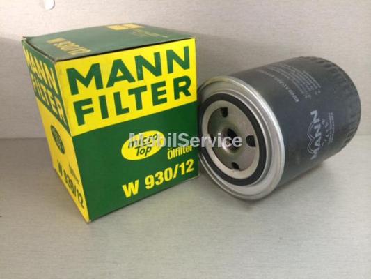 Фильтр масляный W930/12 MANN