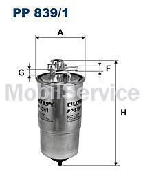 Фильтр топливный FILTRON PP839/1 AUDI/VW 1J0127401A
