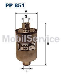Фильтр топливный FILTRON PP851 LADA 2108 21099