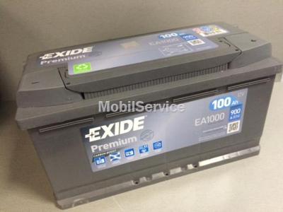 Аккумулятор EXIDE Premium 12V 100Ah 900A EA1000