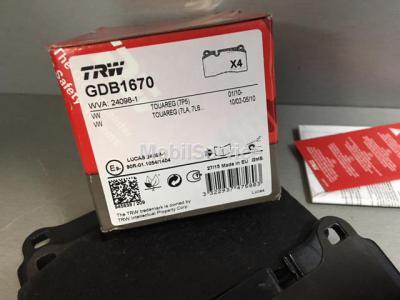 Колодки тормозные передние TRW GDB1670
