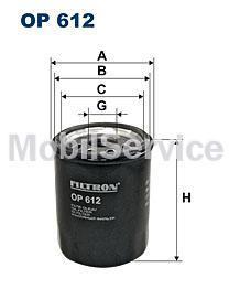 Фильтр масляный FILTRON OP612 для NISSAN 15208-BX00A